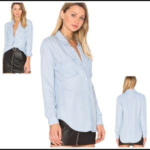 Rails Light Wash Denim  button down Shirt XS